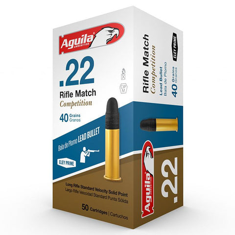 Aguila 22 LR 40 Gr Competition Riflle Match LRN SV (50)