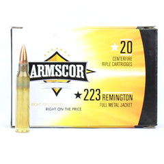 Armscor Precision 223 Rem 55 Grain FMJ 20 Round Box