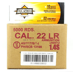 Armscor 22LR CC High Velocity Hollow Point 36 Gr 5000 Round Case