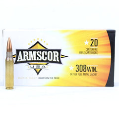 Armscor USA 308 Win 147 Grain FMJ 20 Round Box