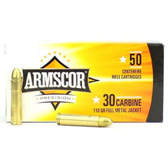 Armscor USA 30 Carbine Brass FMJ 110 Grain 50 Rnd Box