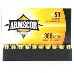 Armscor 380 Auto ACP FMJ 95 Grain 50 Round Box
