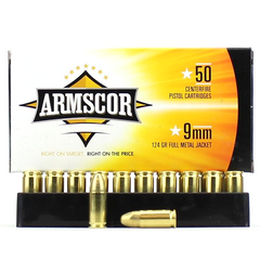 Armscor Precision 9mm 115 Grain Full Metal Jacket 50 Round Box
