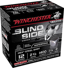 "Winchester Blindside 12 Gauge 2.75"" 1-1/4 oz 2 Shot 25 Round Box SBS122"