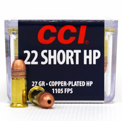 CCI 22 Short CC Hollow Point 27 GR 100 Round Box 0028