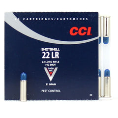 CCI 22LR #12 Shotshell 31 Grain 20 Round Box