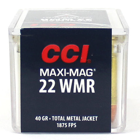 CCI 22 Maxi Mag WMR Total Metal Jacket 40 Gr 1875 FPS 50 Pack 0023