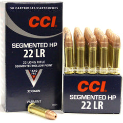 CCI 22LR Copper Coated Segmented HP 1640 FPS 32 Grn 50 Rd Box