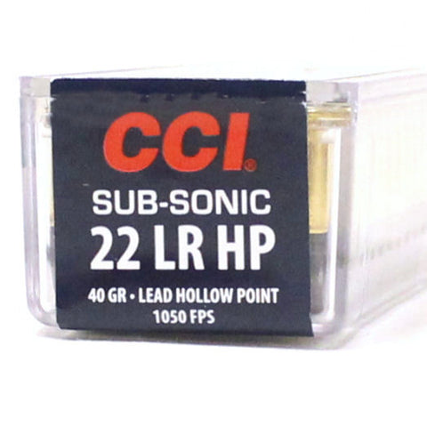 CCI SubSonic 22 LR Lead Hollow Point 0056 40 Grain 100 Rounds