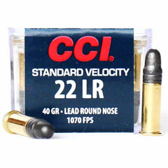 CCI SV Standard Velocity 22 LR 032 Lead Round Nose 100 Rd Pack