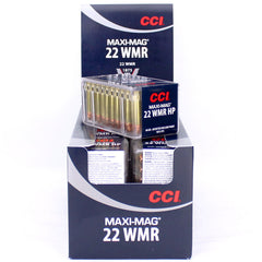 CCI 22 Maxi Mag WMR Jacketed Hollow Point 40 Gr 1875 FPS 50 Round Pack 0024