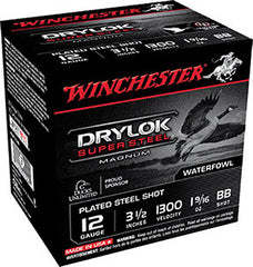 "Winchester 12 Gauge 3.5"" 1-5/8 oz BB Shot Drylok (25)"
