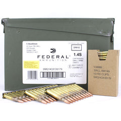 Federal American Eagle 5.56 NATO Spec XM193 FMJ 55 Gr 420 Round Ammo Can