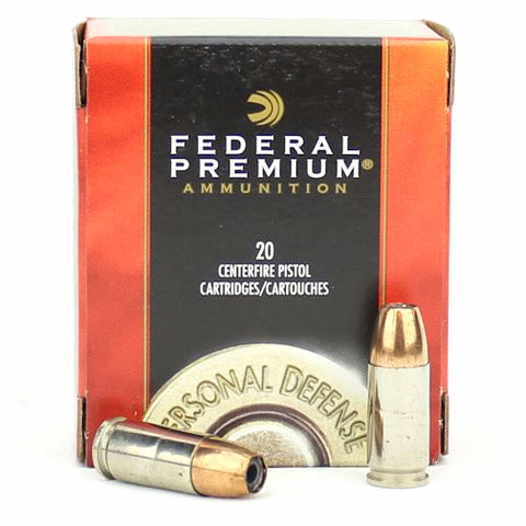 Federal Premium Personal Defense 9mm 124 Grain Hydra-Shok JHP 20 Rnd Box