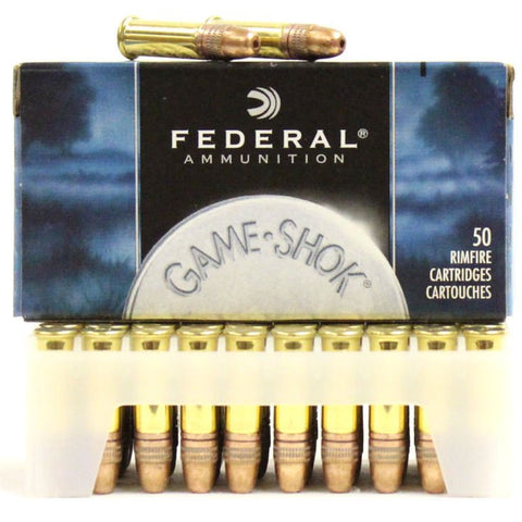 Federal 724 Game-Shok Hyper Velocity 22LR 31 GR Copper-Plated HP 500 Rnd Brick