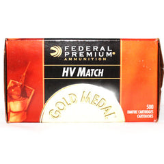 Federal Gold Medal HV Match 22LR 40 Grain Lead RN 500 Rnd Brick