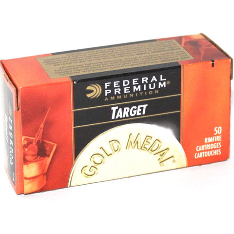 Federal Gold Medal Target 22LR 40 Grain Lead RN 711B 50 Rnd Box