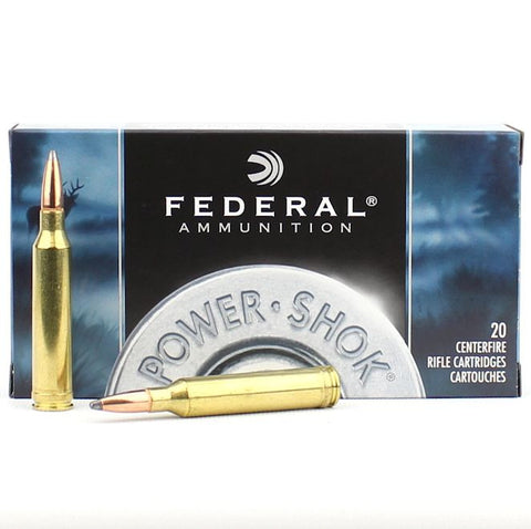 Federal Power Shok 7mm Rem Mag 175 Gr Soft Point 20 Pack