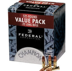 Federal 745 Champion 22 LR Copper-Plated Hollow Point 36 GR 525 Rnd Box