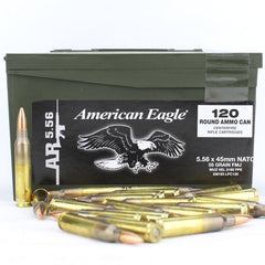 Federal American Eagle 5.56 NATO Spec XM193 FMJ 55 Gr 120 Round Box