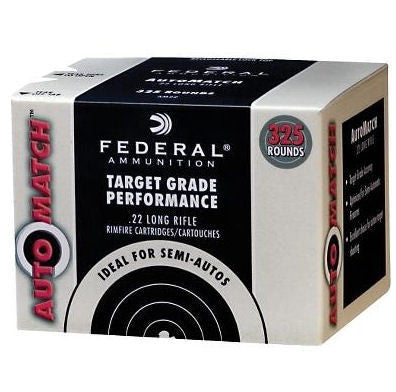 Federal Auto Match Target 22LR 40 Grain LRN 325 Rounds