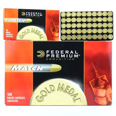 Federal Premium Gold Medal Match 22lr 40 Gr Solid (50)
