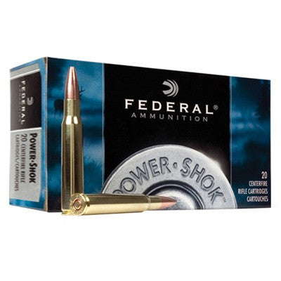 Federal Power Shok 30-06 180 Gr Soft Point 20 Rd Box 3006B