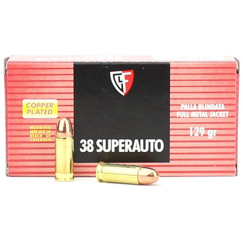 Fiocchi Shooting Dynamics 38 Super 129 Gr FMJ 50 Pack