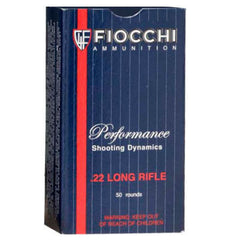 Fiocchi  22 LR Subsonic Lead Hollow Point  40 GR 50 Rnd Box