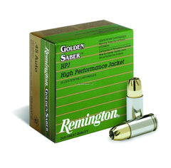 Remington Golden Saber 45 Auto +P 185 Grain 25 Round Box GS45APC