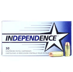 Independence CCI 40 S&W 165 Gr FMJ 50 Round Box