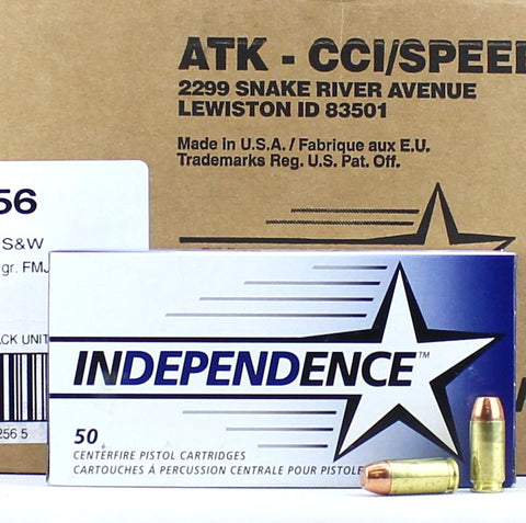 Independence CCI 40 S&W 165 Gr FMJ 1000 Round Case