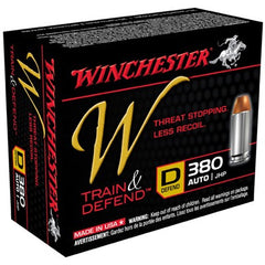 Winchester Train & Defend 380 Auto JHP 95 Gr 20 Rnd Box