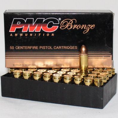 PMC FMJ 9MM 115 Grain 50 Rounds per Box