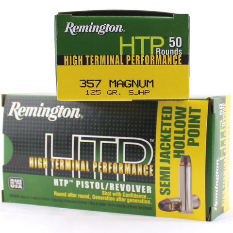 Remington 357 Magnum 125 Gr HTP Semi Jacketed HP (50)