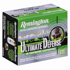 Remington Ultimate Defense 45 ACP Brass Jacketed HP 230 Gr 20 Rnd Box