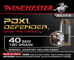 Winchester 40 S&W 180 GR Elite PDX1 Bonded JHP (20)