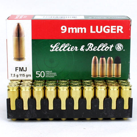 Sellier & Bellot 9mm 115 Grain FMJ (50)