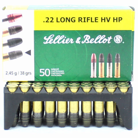 Sellier & Bellot 22LR High Velocity Hollow Point 38 GR 50 Pack