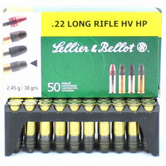Sellier & Bellot 22LR 38 Gr HV HP (50)