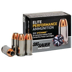 Sig Sauer Performance V-Crown 9MM 124 Gr JHP 20 Rnd Box