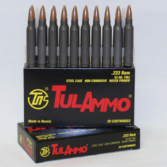 TulAmmo 223 62 Grain Lead Core Bimetal Jacket 20 Per Box
