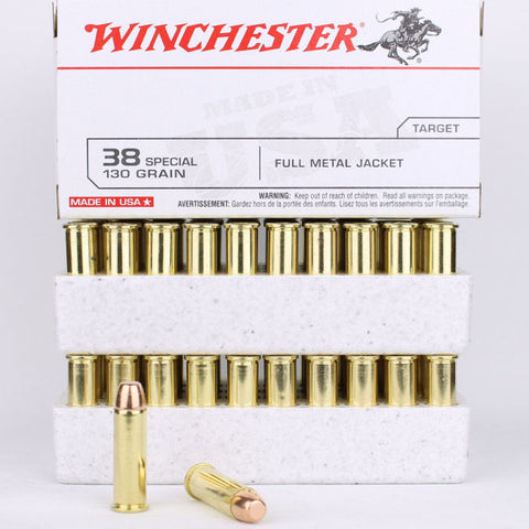 Winchester 38 Special 130 Full Metal Jacket 100 Pack
