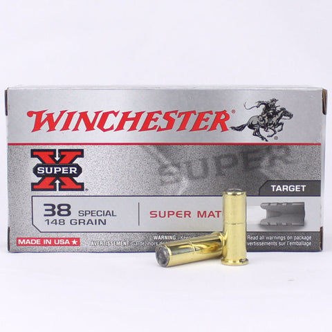 Winchester 38 Special Super X Match 148 Gn Flat 50 Pack