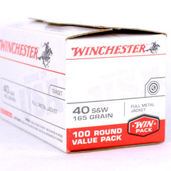 Winchester 40 S&W 165 Grn Full Metal Jacket 100 Pack