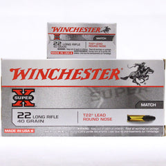 Winchester 22 LR 40 Gr Super X Match Lead RN (50)