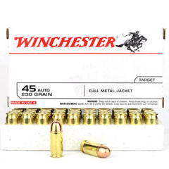 Winchester 45 Auto 230 Grain Full Metal Jacket 50 Rnd Pack