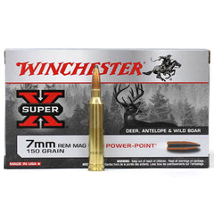 Winchester Super X 7mm Rem Mag 150 Gr Power Point 20 Rnd Box