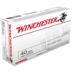 Winchester 40 S&W 180 Grn Full Metal Jacket 50 Pack