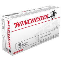 Winchester 45 Auto 185 Grain Full Metal Jacket 50 Pack
